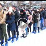 Record Guinness: Los patinadores intentan romper el récord mundial de conga en hielo