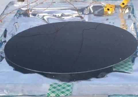 Un panel solar que funciona de noche