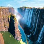 Las cataratas Victoria sin agua