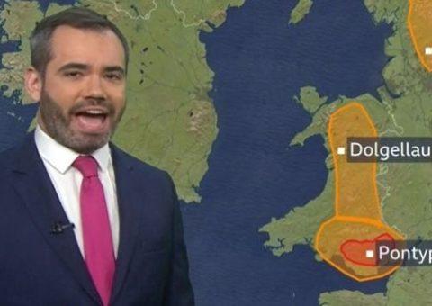 La tormenta Denis preocupa a los televidentes de la BBC